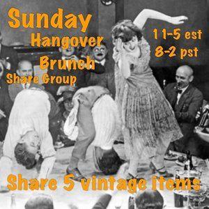 4/5 Sunday Hangover Vintage Brunch